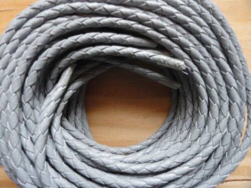 "Bolo Cord 36"" Grey  (pkg 12) 0863 Leatherette Cords Gray with plastic tips"