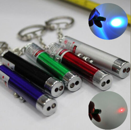 Fashion 2 In1 Red Laser Pointer Pen With White LED Light Childrens Cat Toy CH
