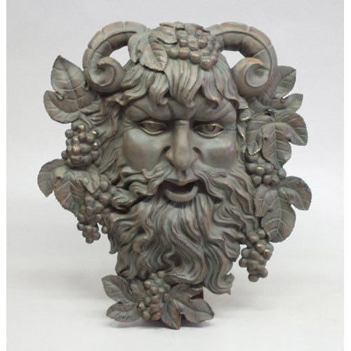 Bacchus Of Pisa God of Wine Wall Art Sculpture Mask by Orlandi 13 Finishes Avail