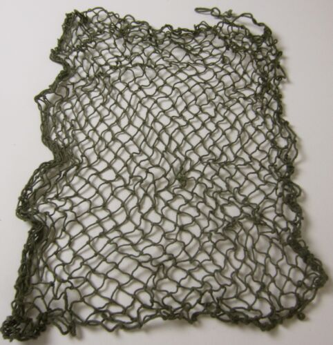 "WWII US ARMY OR MARINE INFANTRY & AIRBORNE M1 STEEL HELMET NET -OD ""GREEN""United States - 156437"