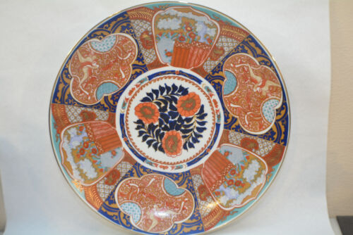 Very large Japanese colored Imari porcelain charger 16""