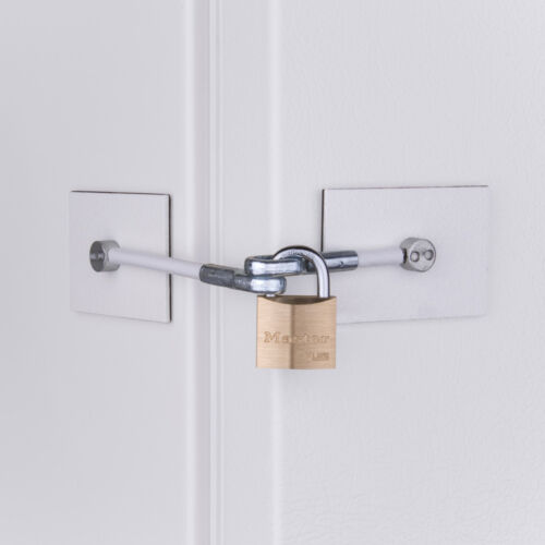 Marinelock Refrigerator Lock - Secure and Easy to Install    <br/> For Mini Fridges, Freezers,  Wine Chillers, Kegerators