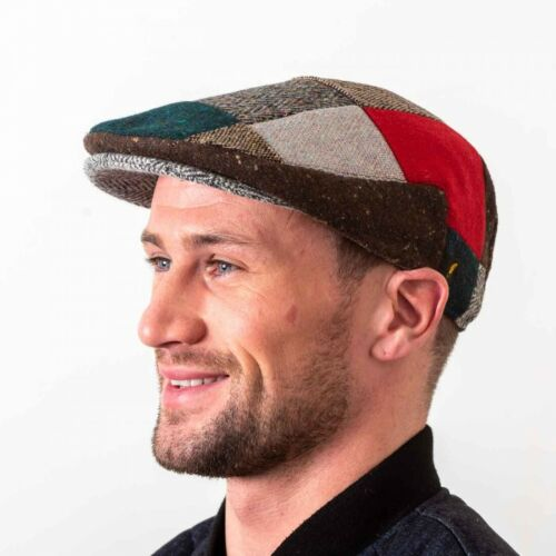 Donegal Tweed Flat Patch Cap - Patchwork Ireland New