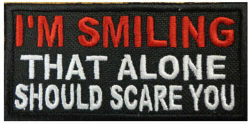 SMILING THAT ALONE SCARE YOU TACTICAL MORALE HOOK PATCHArmy - 48824