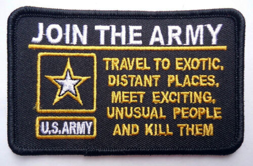 JOIN THE ARMY TACTICAL MORALE MILSPEC ARMY hook PATCH Army - 48824