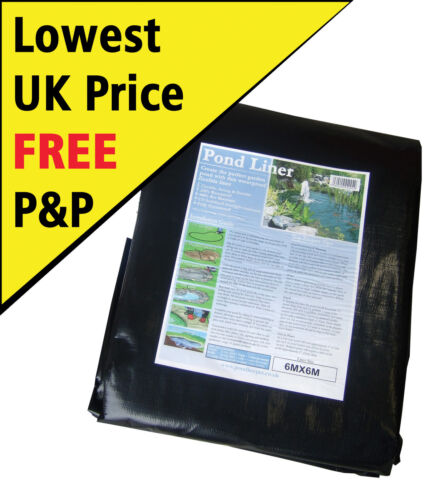 Pond Liners - Bestselling UK Pond Liner - Choose from 30 Bestselling Sizes <br/> FREE Next Day Delivery - Super Strong - 25yr Guarantee