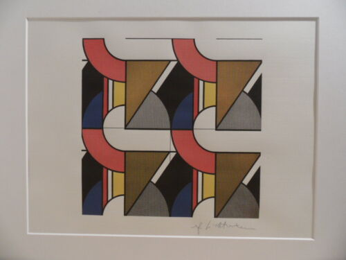 "Roy Lichtenstein ""Modular painting with four panels"" Lithograph plate signed"