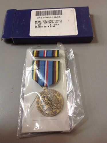 US Armed Forces Exeditionary Service Medal New Sealed in Plastic NIB MilitaryOriginal Period Items - 156451