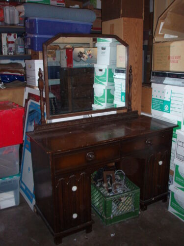 Tibbenham of Ipswich England 1902 Dressing Table with original Mirror - Antique