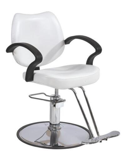 White Classic Hydraulic Barber Chair Styling Salon Beauty 3W