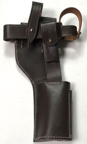 """Custom Padded Zipper Case 15/""""X7/""""/"""" Perfect fit for Mauser Broomhandle Art Luger"""