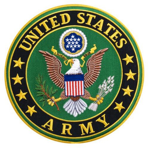 US Army EMBROIDERED 3 inch IRON ON MILITARY PATCH Army - 48824
