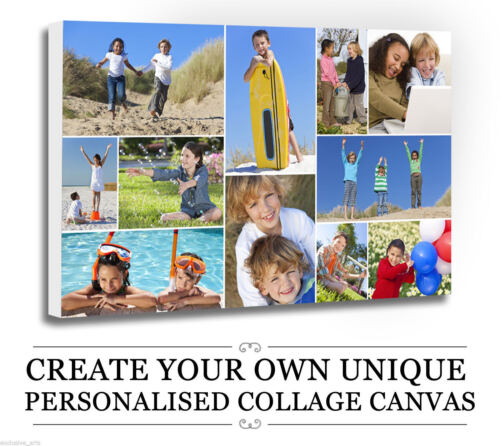 Your Photo/Picture  PERSONALISED COLLAGE CANVAS A4 A3 A2 A1 A0 320gsm 30mm FRAME <br/> WOW SEND UP TO 30 IMAGES PER CANVAS + FREE CANVAS OFFER