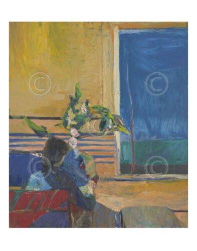 Girl with Plant, 1960 by Richard Diebenkorn Art Print Poster 11x14