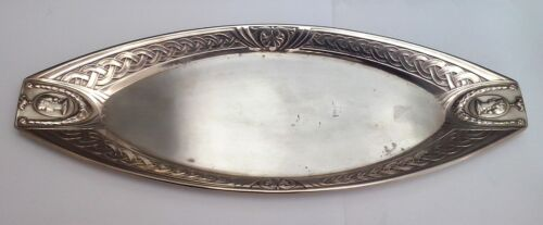 German ART NOUVEAU WMF Silverplate Woman Bust Serving Tray ca 1890