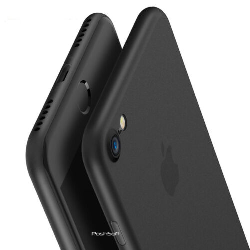 Matte Transparent Ultra-Thin Slim Case Cover Skin for iPhone X Xs/Max, 8 PLUS, 7 <br/> Precise cutouts -Perfect Fit- Select your iPhone model