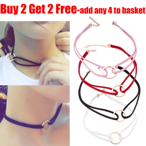 Women Bronze Collar Vintage Handmade Velvet Goth Choker Necklace For Women Lady <br/> Buy 2 Get 2 Free-add any 4 colour to basket to qualify