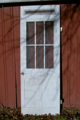"""Vintage, Antique Federal-Style Farmhouse Wood Screen Door 92.5""""X33""""X1.5"""""""