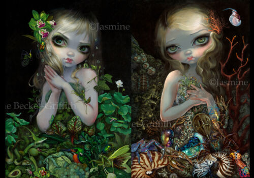 Jasmine Becket-Griffith SIGNED Green Goddess and Soft Shell 2 print set