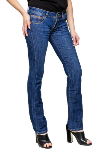 Women's Quality skinny Boot cut Jeans Blue faded Sizes UK 4 6 8 10 12