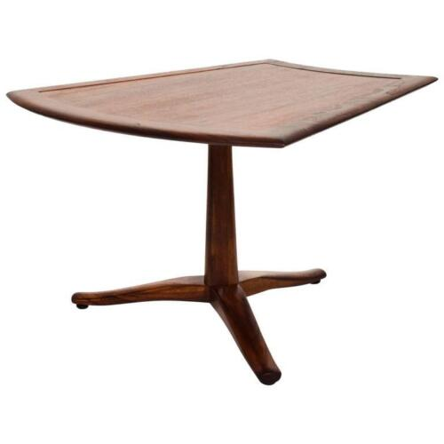 Side Walnut Table Parallel by Barney Flagg for Drexel Mid Century Modern