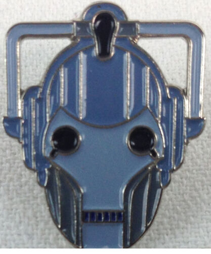 CYBERMEN Head - New Doctor Who BBC TV Series - UK Imported Enamel Pin