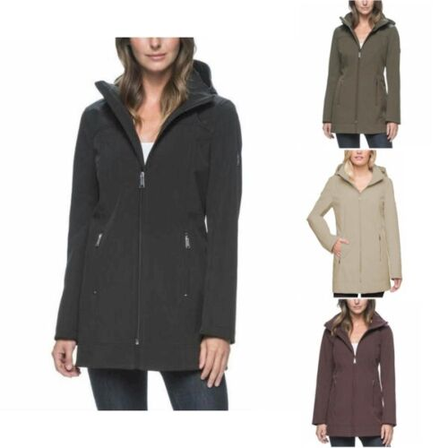 Women's Andrew Marc Long Softshell 4 Way Stretch Jacket Choose Size & Color -E