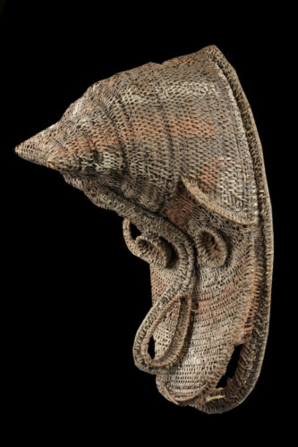 Gable mask from blackwater, tribal basketwork, oceanic tribal art