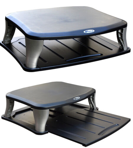 Monitorstand Monitor Stand Also for Larger Monitors up to 40 kg Black+Silver