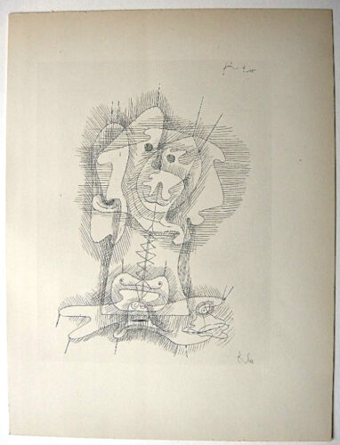Paul Klee 1934 Hand Signed Helio Etching