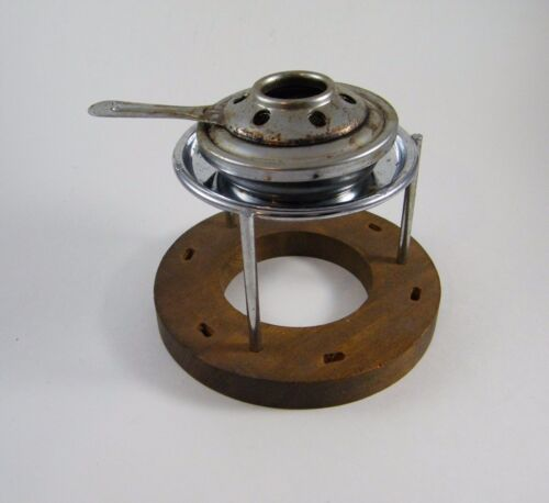 VINTAGE JAPAN MARKED WOOD / METAL ALCOHOL CAMP STOVE