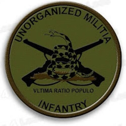 Unorganized Militia Infantry Patches Hook/LoopOther Militaria - 135