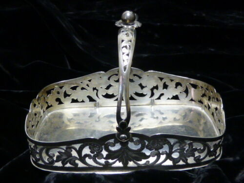 19th Century Danish Silver Basket With Hand Cut-Out Floral Designed