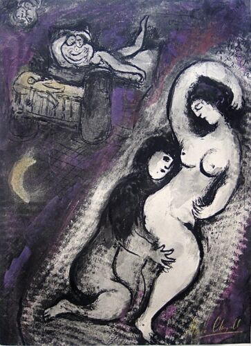 """Marc Chagall """"CONTES DE BOCCACE"""" Hand Signed Lithograph"""