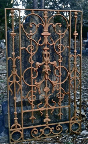 NEW ORLEANS GATE OR FENCE PANEL ORNATE AUTHENTIC ARCHITECTURAL IRON HEAVY LARGE
