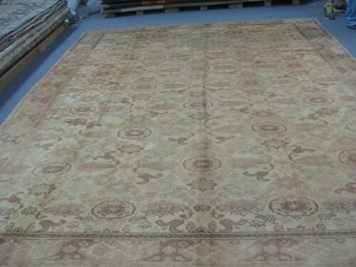 Semi Antique Turkish Sivas Oushak Hereke Rug Wool Hand Knotted 10' x 12'-8