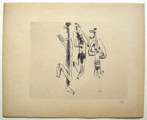 """Paul Klee 1934 Hand Signed Helio Etching """"Satyr-Tanz"""""""