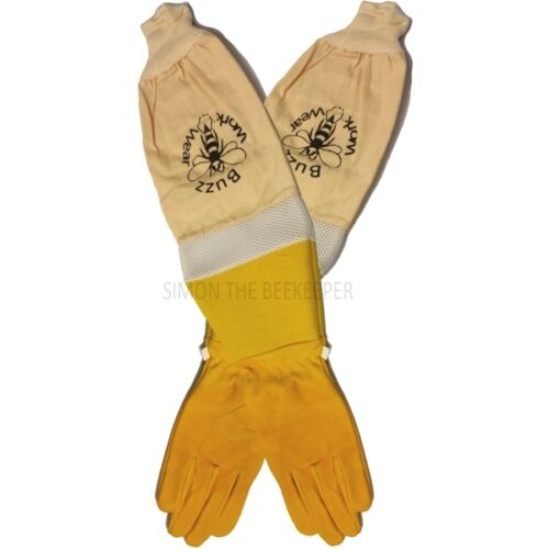 Beekeeper Ventilated superior Gloves Gold soft hide - All Sizes