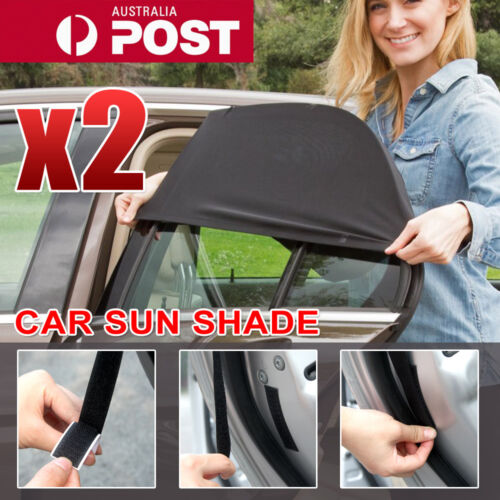 2x Universal Sun Shades Rear Side Seat Car Window Socks Baby Kids Protection <br/> PREMIUM QUALITY WINDOW SHADE✔ SYD SELLER✔UV PROTECTION✔