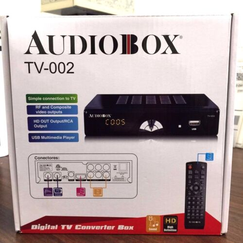BRAND NEW AudioBox TV-002 Digital TV Converter Box HD