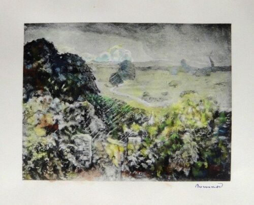 Pierre Bonnard 'L'Orage' 1923 Hand Signed & Hand Colored Lithograph