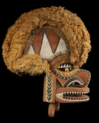 Papuan sepik mask, oceanic tribal art, blackwater area