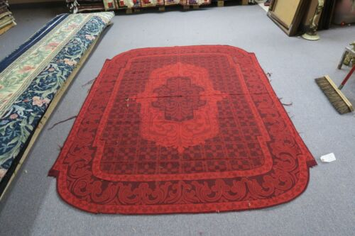 """60"""" x 72"""" ANTIQUE 18TH CENTURY FRENCH AUBUSSON HAND STITCHED WOOL RUG PANEL RED"""