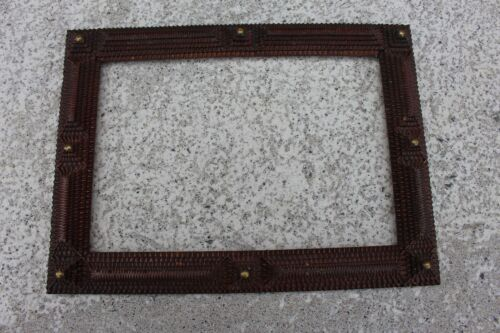 Antique Wooden Tramp Trench art Frame wall Hanging Hand Made Carved wood