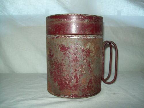 Vintage Antque Whitall Tatum glass water cooler jar in Tin carry case