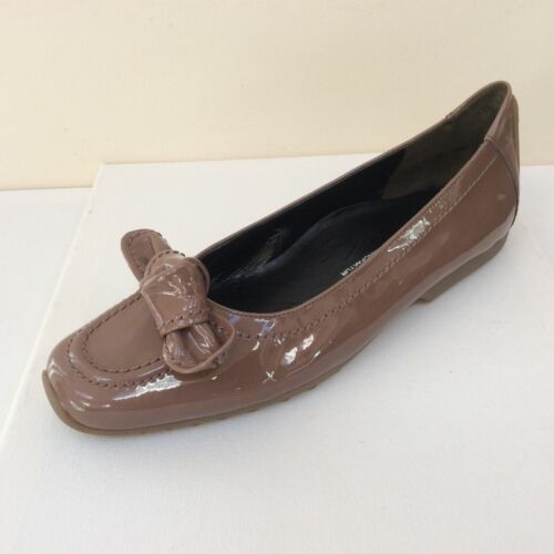 K&S 'Susa' winter rose patent flats with bow detail, UK 4 /EU 37, RRP £129, BNWB
