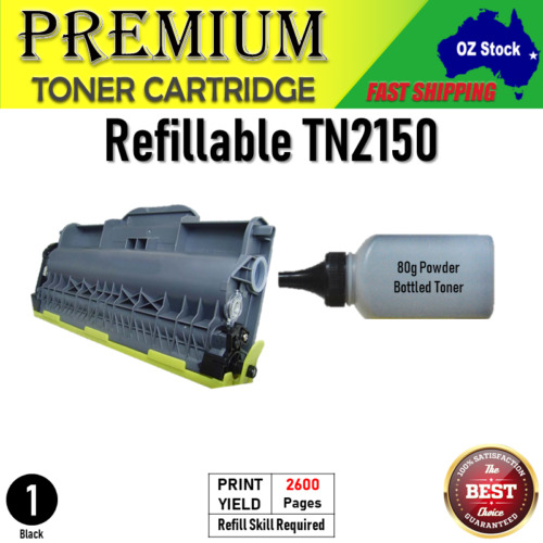 Refillable 2x 4x TN2150 TN2130 Toner for Brother HL2140 DCP7040 HL2150N MFC7340