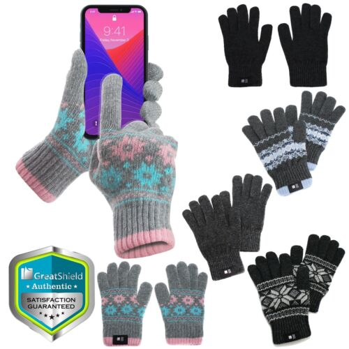 Smartphone Tablet Touchscreen Texting Warm Soft Winter Gloves Full Finger Mitten