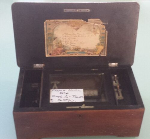 1890 French Music Box Antique & Collectable
