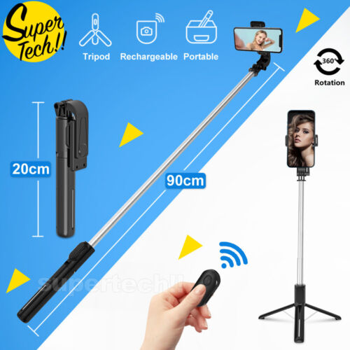 Unipod Selfie Stick Handheld Tripod Bluetooth Shutter For iPhone 11 Pro Samsung